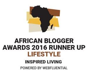 Inspired Living African Blogger Awards Winner