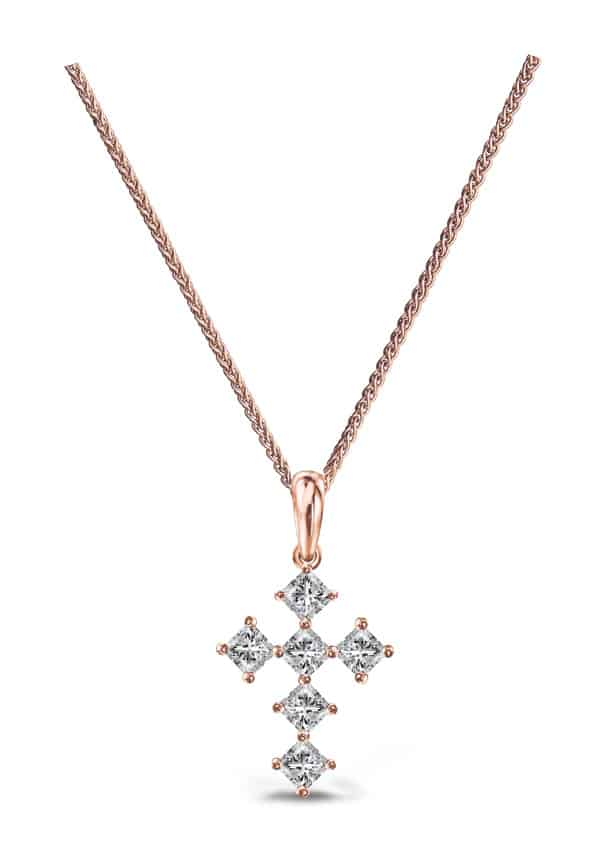 Shimansky My-Girl-Cross-Pendant-in-Rose-Goldb