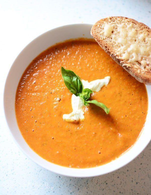 Tomato Soup with Parmesan Toasties
